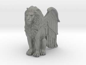 Lion, Winged, 42mm in Gray PA12