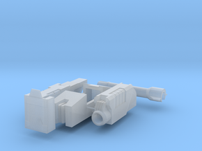 Comic Style Tank Turret MTMTE in Smooth Fine Detail Plastic