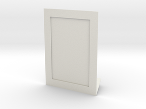 Photo Frame (4x6 in) + Engraving on your photo in White Natural Versatile Plastic