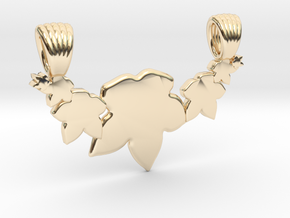 Seven leafs [pendant] in 14K Yellow Gold