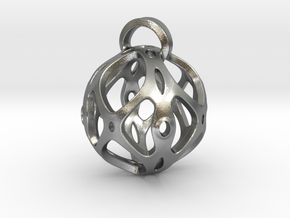 View of spherical games - part four. Pendant in Natural Silver
