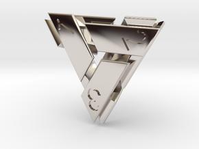 D4 Abstergo Dice in Rhodium Plated Brass
