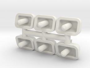 Hancock Air Whistle (G - 1:29) 6X in White Natural Versatile Plastic