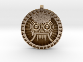 Tlaloc Sun in Polished Gold Steel