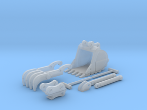 1:50 HD Bucket,Thumb, and QC set for PC138 in Smooth Fine Detail Plastic