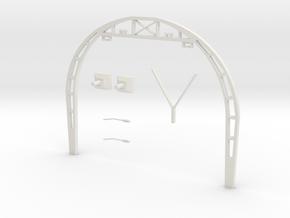 Gotisch Portaal Dubbelspoor H0 1;87 in White Natural Versatile Plastic: 1:87 - HO