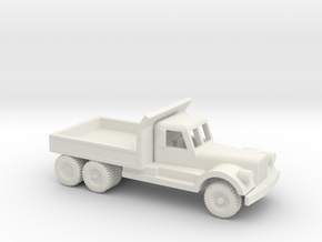 1/100 Scale Diamond T Dump Truck in White Natural Versatile Plastic