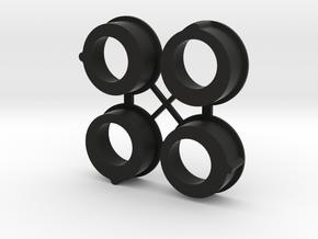 Awesomatix Diff Eccentrics for Gizmo Genesis Kit in Black Natural Versatile Plastic