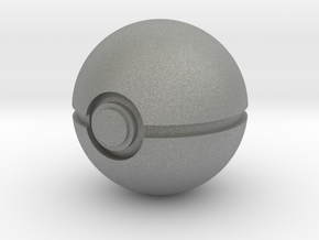 1/3rd Scale Pokeball in Gray Professional Plastic
