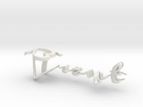 3dWordFlip: Trent/Brooke in White Natural Versatile Plastic