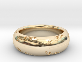 Reptileskin Ring in 14k Gold Plated Brass: 9 / 59