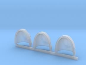 Buzzsaw Gravus shoulder pads x3 L in Smooth Fine Detail Plastic