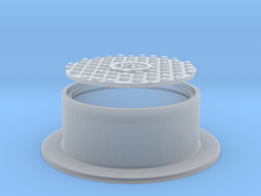 Manhole Cover and Flange 1/32 in Smooth Fine Detail Plastic