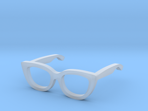 1:12 Cateye Doll Glasses  in Smooth Fine Detail Plastic