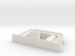 hadrian's wall Milecastle  short 6mm 1/285 in White Natural Versatile Plastic