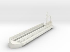 1/300 Carthaginian Quadrireme Hull in White Natural Versatile Plastic