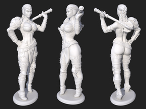 Barb Mini in White Processed Versatile Plastic: Small