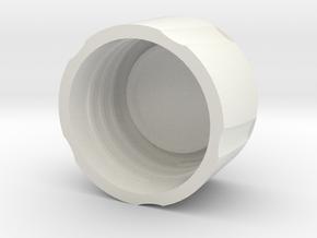 35mm Film Case Top in White Natural Versatile Plastic