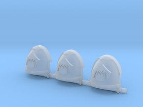 Toothed Mouth Gravus shoulder pads #1 R in Smooth Fine Detail Plastic