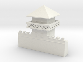 hadrian's wall Watchtower 1/350  in White Natural Versatile Plastic