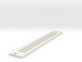 Eurorack Blank Panel 4HP - Vented in White Natural Versatile Plastic