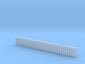 1:285 Quay Wall Sheet Piling H20mm in Smooth Fine Detail Plastic