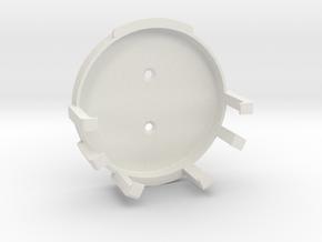 Echo Dot 3rd Gen Wall Mount v3 in White Natural Versatile Plastic
