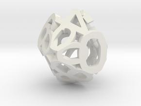 Hollow Dice in White Natural Versatile Plastic: d00