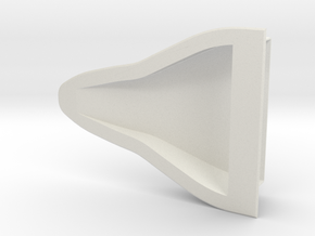 Large NACA Duct in White Natural Versatile Plastic