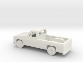 1/144 Scale Pickup in White Natural Versatile Plastic