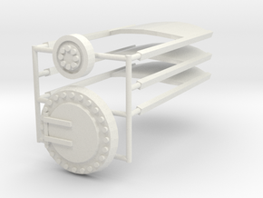 7mm Ferry wagon detail set in White Natural Versatile Plastic