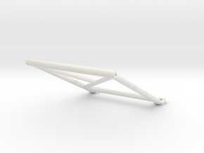 "Tamiya Blazing Blazer Rear Center Roll Bar ""Bar Sy in White Natural Versatile Plastic"