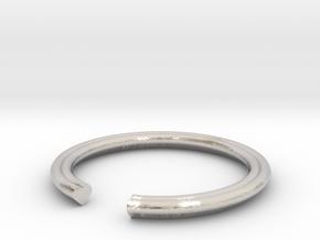 Heart 14.05mm in Rhodium Plated Brass