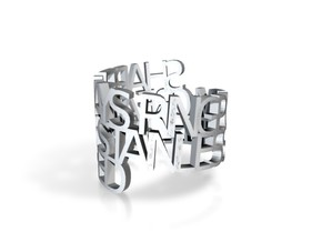 Ring Poem - Stainless steel polished in White Strong & Flexible