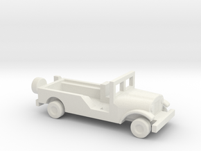 1/144 Scale M170 Jeep Ambulance in White Natural Versatile Plastic