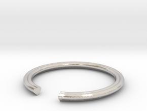 Heart 16.30mm in Rhodium Plated Brass