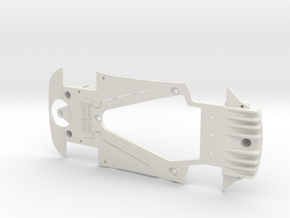 PSSX00105 Chassis Kit for Scalextric AMG GT3 (NSR) in White Natural Versatile Plastic