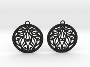 Aria earrings in Black Natural Versatile Plastic: Medium