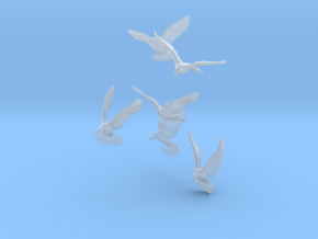 1/24 (G Scale) Doves X6 for Diorama in Smooth Fine Detail Plastic