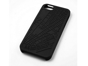 Financial District/ Tribeca NYC Map iPhone 5/5s Ca in Black Natural Versatile Plastic