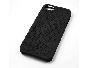 East Village NYC Neighborhood Map iPhone 5/5s Case in Black Strong & Flexible