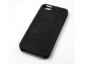 Fort Greene/ Clinton Hill Brooklyn Map iPhone 5/5s in Black Natural Versatile Plastic