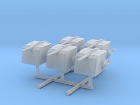 "1/350 DKM 10.5 cm/45 (4.1"") SK C/32 Set x5 in Smooth Fine Detail Plastic"