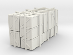 Assorted HO packing crates in White Natural Versatile Plastic