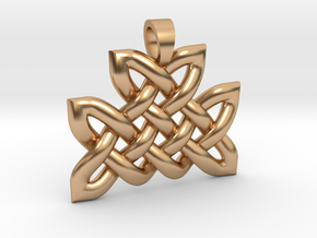 Celtic knot mountain [pendant] in Polished Bronze