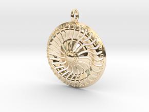 Sun Pendant Ver2 in 14k Gold Plated Brass