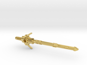 Megatron's Energon Sword (3mm, 4mm & 5mm grips) in Polished Brass: Small