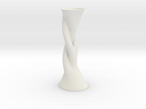 Vase Hlx1640 in White Natural Versatile Plastic