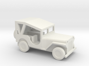 1/110 Scale MB Jeep Covered in White Natural Versatile Plastic