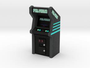 Polybius Arcade Game, 35mm Scale in Natural Full Color Sandstone